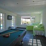 Interior of pool house